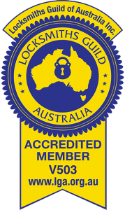 Locksmiths Guild Australia Accredited Member V503