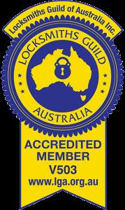 Locksmiths Guild Australia Accredited Member V503